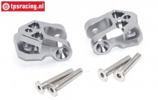 SB009-GS Lower suspension arm holder silver Super Baja-Rock Rey, Set