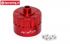 SB011R Differential housing red Super Baja-Rock Rey, 1 st.