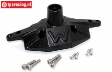 SB013A-BK Rear axle housing black Super Baja-Rock Rey, 1 st.