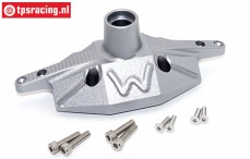 SB013A-GS Rear axle housing silver Super Baja-Rock Rey, 1 st.