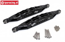 SB014L-BK Rear suspension arm black Super Baja-Rock Rey, Set