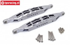 SB014L-GS Rear suspension arm silver Super Baja-Rock Rey, Set