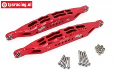 SB014L-R Rear suspension arm LOSI red Super Baja-Rock Rey, Set