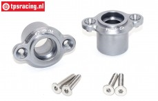 SB022-GS Bearing carrier rear silver Super Baja-Rock Rey, Set