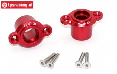 SB022-R Bearing carrier rear Super Baja Rey Red, Set