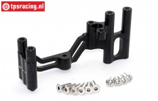 SB024-BK Steering servo mount black Super Baja-Rock Rey, 1 st.