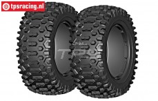 GW96-P1 GRP Cross P1 tires Ø120 mm, 2 pcs.