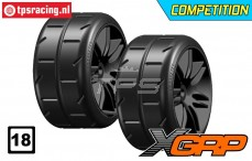 GWH02-XM3B GRP 1/5 tires Medium Ø120 mm, 2 pcs.