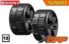 GWH02-XS3B GRP 1/5 tires Soft Ø120 mm, 2 pcs.