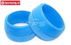 TPS2402 HQ Tyre Foam Bleu Ø120-Ø155-B80 mm, 2 pcs