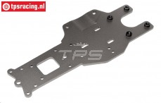 HPI102169 Rear Lower Chassis plate, Gun Metal, 1 pc.