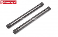 HPI102214 Spoiler joint Gun Metal, 2 pcs.