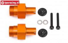 HPI112845 Wheel axle HD, Orange, 2 st.