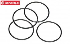 HPI15415 O-ring Air filter, (Ø50-D2,6 mm), 4 pcs