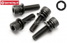 HPI15479 Cap Head Screw M4-L15 mm, 4 pcs.