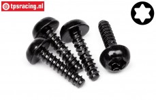HPI15495 Button head self tapping screw Ø4-L16 mm, 4 pcs.