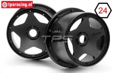 HPI3226 Rims Black, 2 pcs