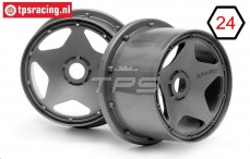 HPI3227 Rims Gun-Metal, 2 pcs