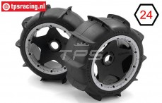 HPI4741 HPI Sand Buster Paddle M mounted Ø170-B80 mm, 2 pcs.