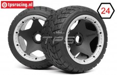 HPI4743 HPI Tarmac Buster M mounted Ø170-B80 mm, 2 pcs.