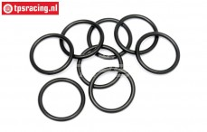 HPI75072 O-ring Shock adjustment ring, 8 st.