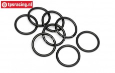 HPI75079 O-ring upper shock closure, 8 pcs.