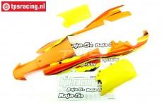 HPI7766 Body Painted Orange-Yellow-White, Set