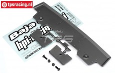HPI85296 Rear Wing 5T-1 Gun Metal, Set