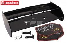 TPS85451/10 Nylon rear Wing Black HPI-Rovan, Set