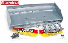 HPI85453 Rear Wing Zilver, Set