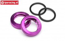 HPI86446 Schock adjuster nut Purple Ø20 mm, 2 pcs