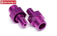 HPI86465 Wheel axle front, Purple, 2 st.