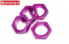 HPI86468 Wheel nut Purple, 4 pcs