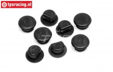 HPI86664 Rubber cap, (Ø6-H5 mm), 8 pcs.