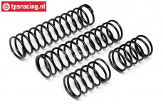 HPI86762 Shock spring rear Black, 2 pcs.