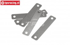 HPI87437 Brake lining shims, (D0,4 mm), 5 pcs.