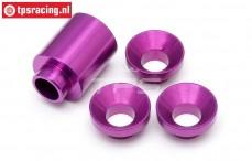 HPI87459 Spacer Clutch bell holder Purple, Set