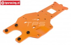 HPI87482 Rear Lower Chassis plate, Orange, 1 pc.