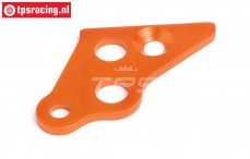 HPI87489 Engine mount brace left Orange, 1 pc.