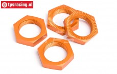 HPI87494 Wheel nut Orange Ø24 mm, 4 pcs.
