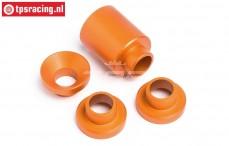 HPI87555 Spacer Clutch bell holder Orange, Set