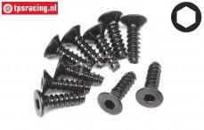 HPI94304 Countersunk Self tapping screw Ø3-L10 mm, 10 pcs.