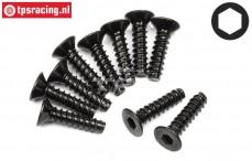 HPI94305 Countersunk Self tapping screw Ø3-L12 mm, 10 pcs.