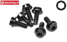 HPI94453 Flanged cap head screw, M3-L8 mm