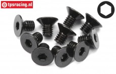 HPI94527 Countersunk Head Screw M4-L6 mm, 10 pcs