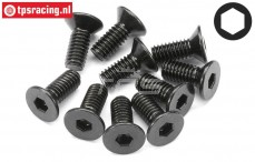 HPI94529 Countersunk Head Screw M4-L10 mm, 10 pcs