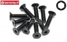 HPI94531 Countersunk Head Screw M4-L15 mm, 10 pcs