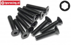 HPI94533 Countersunk Head Screw M4-L20 mm, 10 pcs