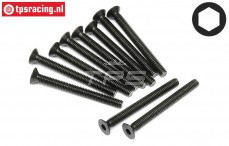 HPI94541 Countersunk Head Screw M4-L40 mm, 10 pcs