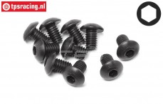 HPI94552 Button Head screw M4-L6 mm, 10 pcs.